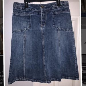 Jean denim skirt